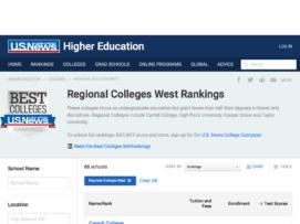 remote usnews regional colleges west