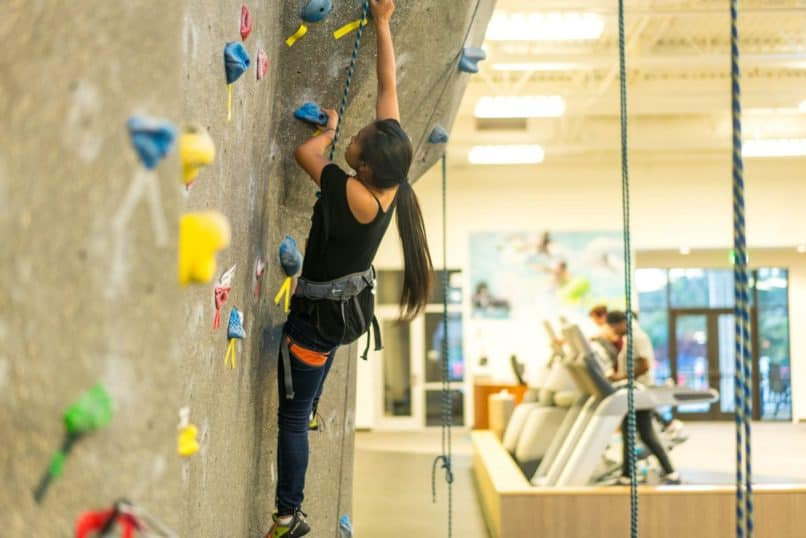 Saint Marys college CA climbing wall rec