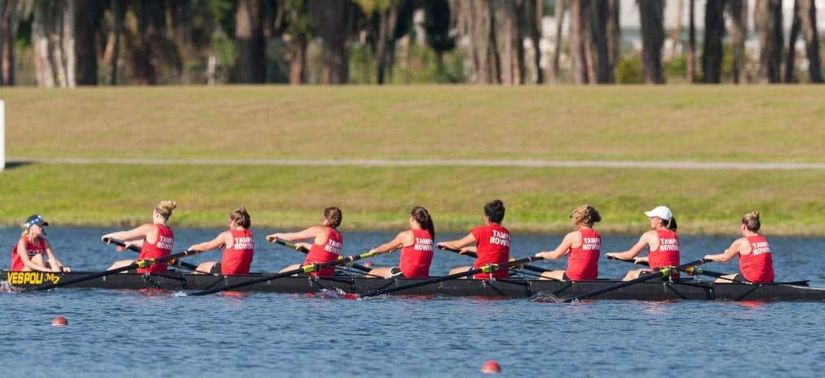 U Tampa crew rowing