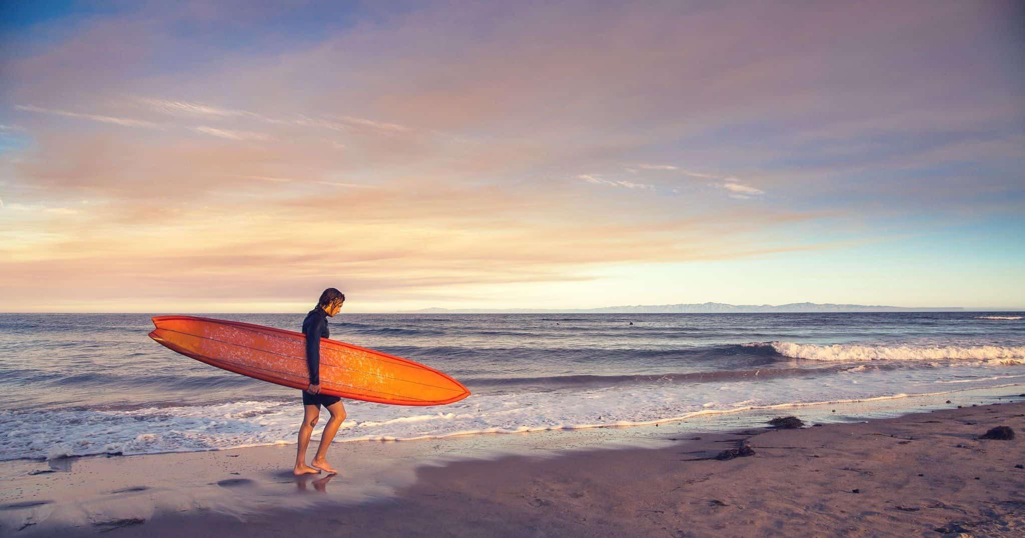 UCSB Beach surfing