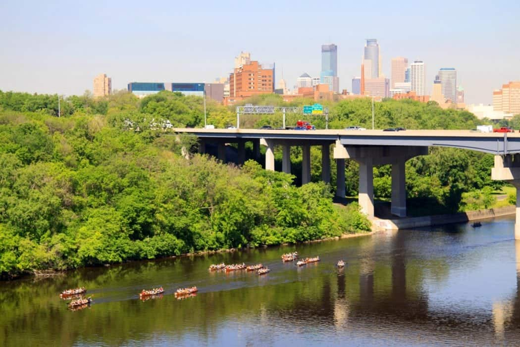 Mississippi River Canoeists Twin Cities