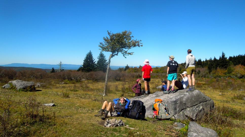 UNCA hiking