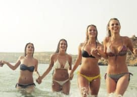group of girls bikini