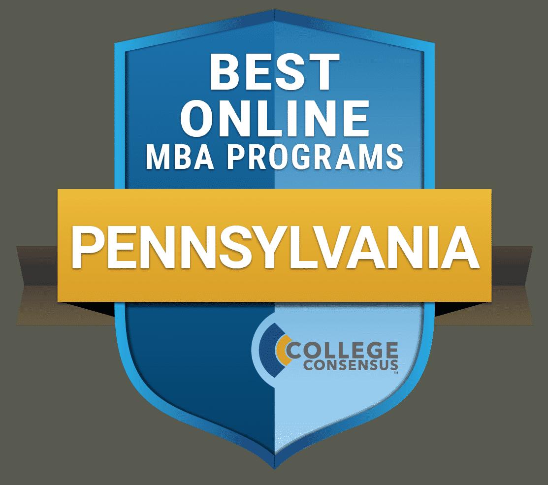 College Consensus Best Online MBA Programs in Pennsylvania