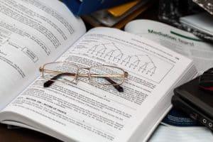 eyeglasses open book